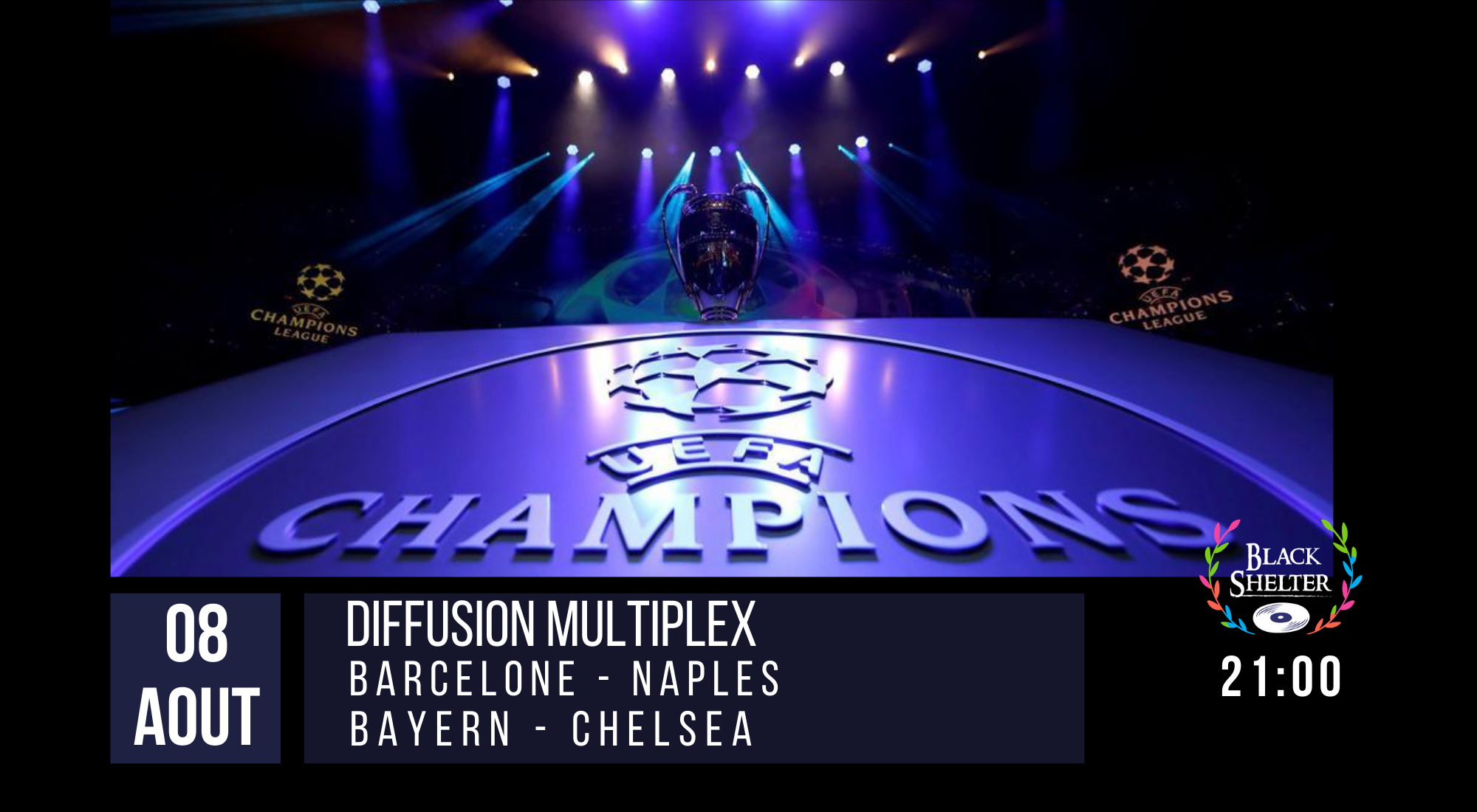 champions league black shelter